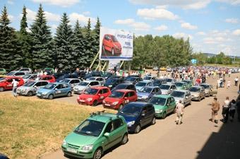 Московская колонна Hyundai попала в Книгу рекордов Гиннеса