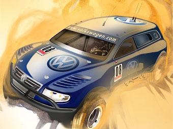 На базе VW Touareg построили 12-цилиндровый прототип для гонок в пустыне