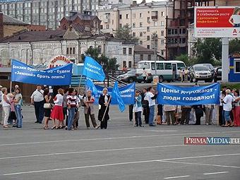 В Приморье началась акция протеста против роста цен на топливо