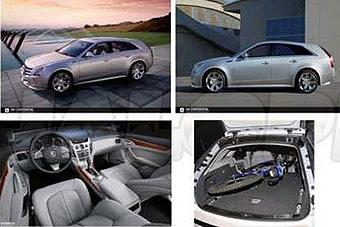 Появились первые фотографии универсала Cadillac CTS