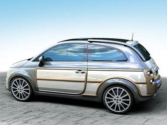 Fiat 500 получит удлиненный кузов с деревянными панелями