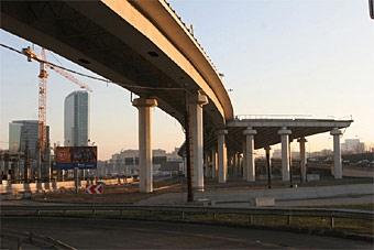 Дороги над железнодорожными ветками появятся в Москве после 2010 года