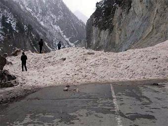 На Транскавказской магистрали образовались пробки