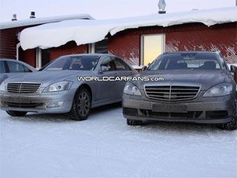 Mercedes приступил к испытаниям обновленного S-Class в холодном климате