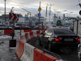 Сильный дождь стал причиной пробок в Москве