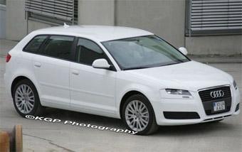 Фотографам удалось запечатлеть обновленную Audi A3 Sportback