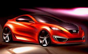 Hyundai показала первое изображение нового купе