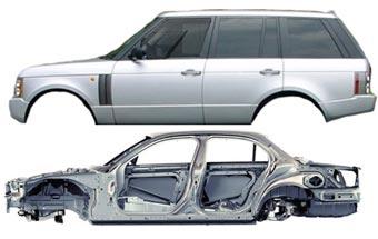 Новые модели Land Rover получат алюминиевые кузова