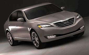 Hyundai представил фотографии концептуального заднеприводного седана