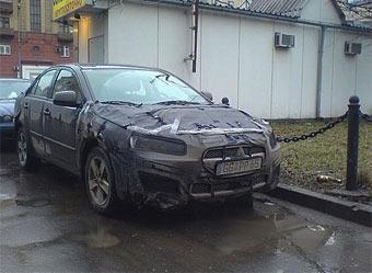 Новый Mitsubishi Lancer проходит тесты на улицах Москвы