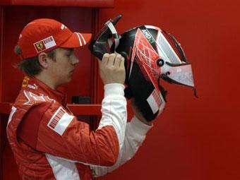 На первых тестах Ferrari Райкконен оказался медленнее Массы