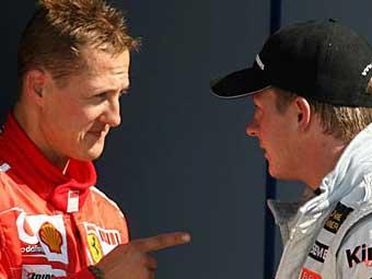 Ferrari попросит Шумахера помочь Райкконену