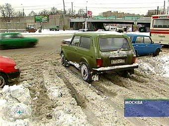 Московские дороги в субботу покроются льдом