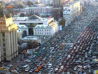 """В Москве """"встало"""" Садовое кольцо"""