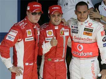 Фелипе Масса из Ferrari выиграл квалификацию Гран-при Бразилии
