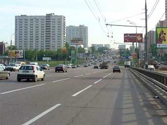 Лужков открыл новую развязку на Проспекте Мира
