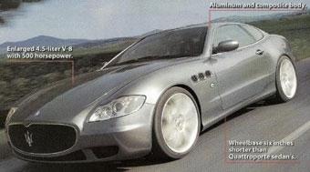 Maserati Quattroporte лишится двух дверей