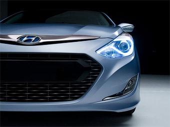 Компания Hyundai показала изображение гибридной версии новой Sonata
