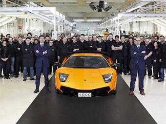 Фирма Lamborghini выпустила 4-тысячный экземпляр суперкара Murcielago