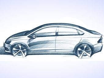 Volkswagen показал первое изображение дешевого седана для России