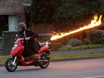 Британец построил самый быстрый скутер в мире