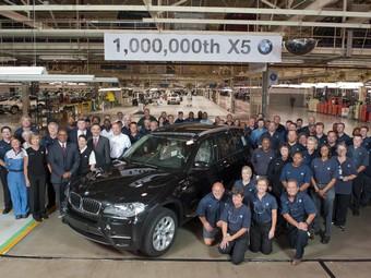 Компания BMW выпустила миллионный внедорожник X5