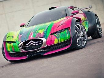 Французская художница разукрасила спортивный электромобиль Citroen