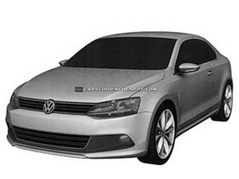 Концерн Volkswagen запатентовал дизайн купе Jetta