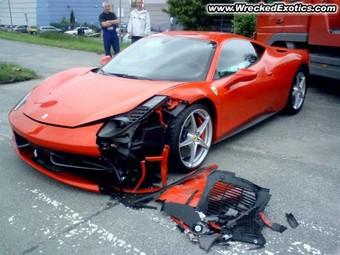 Первая авария с участием Ferrari 458 Italia произошла в Польше