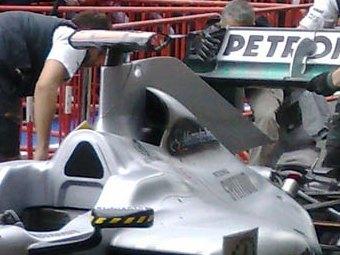 Команда Формулы-1 Mercedes показала революционный воздухозаборник