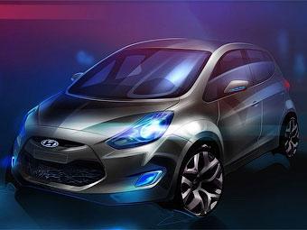 Компания Hyundai показала первый рисунок нового компактвэна