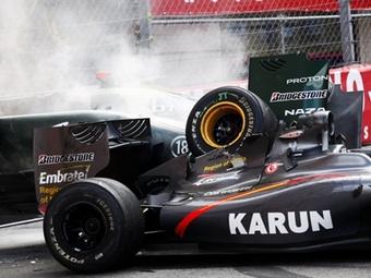 Из-за аварий гонка в Монако прерывалась четыре раза