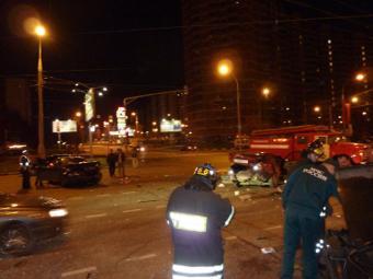 На юго-западе Москвы произошло крупное ДТП