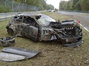Авария на Нюрбургринге обошлась водителю в 15 тысяч евро