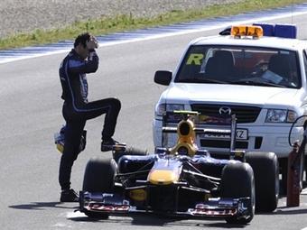 """Пилот Red Bull показал лучшее время на тестах """"Формулы-1"""" в Хересе"""