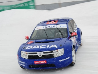 Ален Прост занял второе место в ледовых гонках