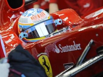 """Алонсо показал лучшее время на тестах """"Формулы-1"""""""