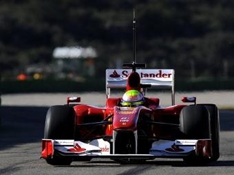 """Масса выиграл второй день тестов """"Формулы-1"""" в Валенсии"""