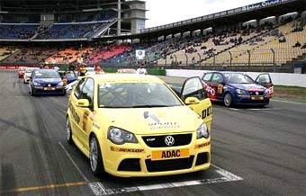 В первой гонке немецкого Кубка VW Polo Садрединова протаранил соперник