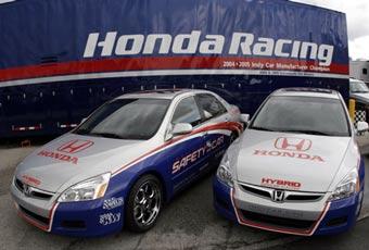 Безопасность гонок IndyCar обеспечат гибридные автомобили Honda