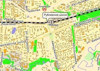 Рублевское шоссе затопило холодной водой