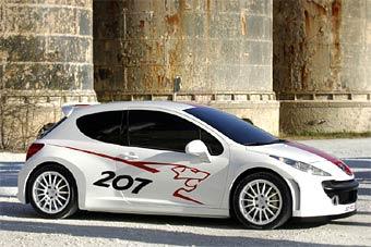 Peugeot покажет раллийный прототип на базе нового Peugeot 207