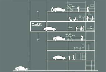 Немецкие архитекторы предлагают парковать автомобили на балконах