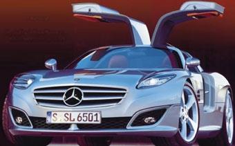 Mercedes возрождает 300SL Gullwing coupe