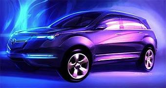 Прототип нового поколения Acura MDX представят в Нью-Йорке