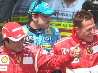 Михаэль Шумахер выиграл квалификацию Гран-при Франции
