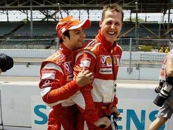 Михаэль Шумахер стартует с поул-позишн на Гран-при США
