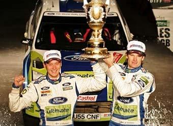 Последний этап WRC завершился победой Гронхольма