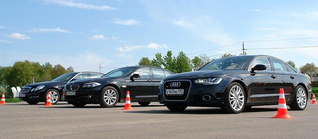 Сравниваем Audi A6 с BMW 5-Series и Mercedes-Benz E-Class