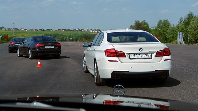 Сравниваем Audi A6 с BMW 5-Series и Mercedes-Benz E-Class. Фото 1